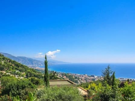 Sea view villa in Roquebrune Cap Martin
