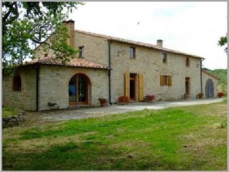 Stone country house in panoramic position