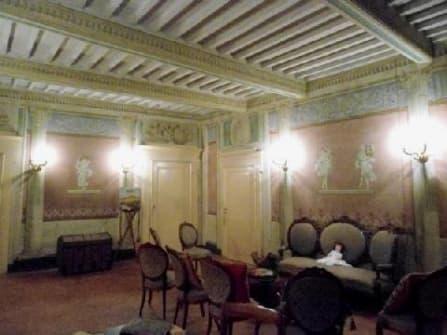 Historical villa with frescoes and garden