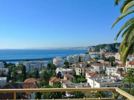 Sea view apartment in Mont Boron in Nice