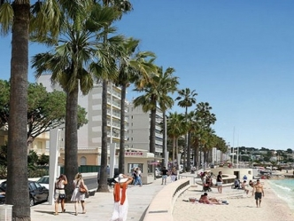 New sea front apartments in Juan les Pins