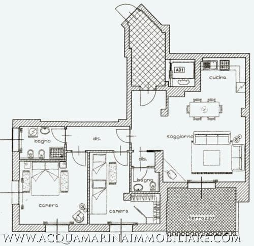 Luxury apartment Bordighera<br />3/8