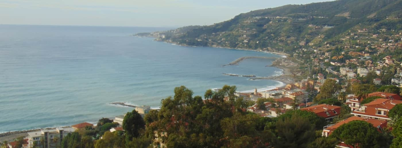 Ospedaletti studio sale sea view
